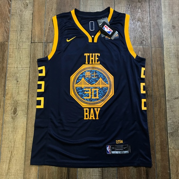 wholesale dealer e1246 29746 NWT Steph Curry Warriors NBA City Jersey NWT